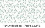 floral seamless pattern.... | Shutterstock .eps vector #789532348