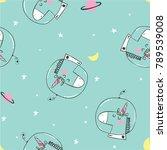 unicorn pattern design as vector   Shutterstock .eps vector #789539008