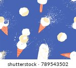 hand drawn seamless pattern... | Shutterstock .eps vector #789543502