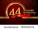 forty four years birthday... | Shutterstock .eps vector #789545476