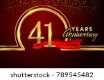 forty one years birthday... | Shutterstock .eps vector #789545482