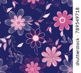 abstract flower seamless... | Shutterstock .eps vector #789549718