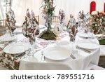 interior of a wedding tent... | Shutterstock . vector #789551716