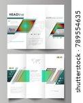 tri fold brochure business... | Shutterstock .eps vector #789554635