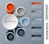 infographics circle design ... | Shutterstock .eps vector #789559945