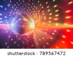 disco ball with bright rays ... | Shutterstock . vector #789567472