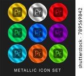 premiere 9 color metallic... | Shutterstock .eps vector #789569842