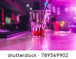glass with cocktail   booze in... | Shutterstock . vector #789569902