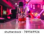 glass with cocktail   booze in... | Shutterstock . vector #789569926