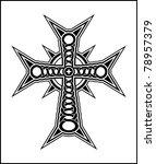 black cross | Shutterstock .eps vector #78957379