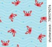 vector seamless pattern with... | Shutterstock .eps vector #789579076