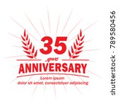 35 years anniversary logo.... | Shutterstock .eps vector #789580456