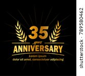 35 years anniversary logo.... | Shutterstock .eps vector #789580462