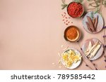 chinese herbs with copy space... | Shutterstock . vector #789585442