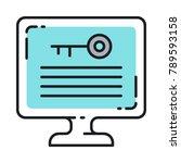 keyword density seo vector icon....   Shutterstock .eps vector #789593158