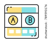 ab testing icon for seo.... | Shutterstock .eps vector #789593176