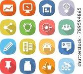 flat vector icon set  ... | Shutterstock .eps vector #789594865