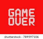 White Game Over Logo In Pixel...