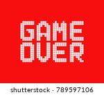 white game over logo in pixel... | Shutterstock .eps vector #789597106