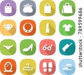 flat vector icon set   shopping ... | Shutterstock .eps vector #789599686