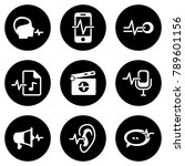 set of white icons isolated... | Shutterstock .eps vector #789601156
