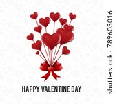happy valentine's day card... | Shutterstock .eps vector #789603016