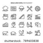 restaurant  bold line icons.... | Shutterstock .eps vector #789603838
