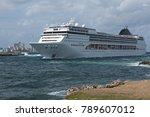 cruiser near the castillo de...   Shutterstock . vector #789607012