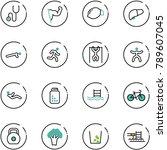 line vector icon set  ... | Shutterstock .eps vector #789607045