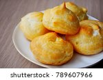 profiterole or eclair.... | Shutterstock . vector #789607966
