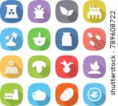 flat vector icon set   nuclear... | Shutterstock .eps vector #789608722