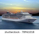 Luxury Cruise Ship Sailing From ...