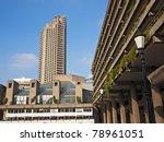 the barbican centre  london  uk
