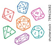 vector icon set of dice for... | Shutterstock .eps vector #789612682