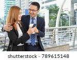businessman and businesswoman... | Shutterstock . vector #789615148