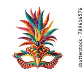 carnival mask. happy carnival... | Shutterstock .eps vector #789616576