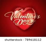 valentine's day vector... | Shutterstock .eps vector #789618112