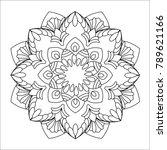 flower mandala vector...   Shutterstock .eps vector #789621166