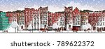 vector art frozen city scene.... | Shutterstock .eps vector #789622372