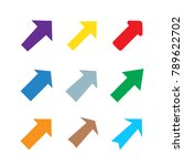 set of multicolored various... | Shutterstock .eps vector #789622702