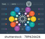 vector infographic of... | Shutterstock .eps vector #789626626