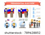 election campaign and debates.... | Shutterstock .eps vector #789628852
