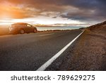 traveling car and beautiful... | Shutterstock . vector #789629275