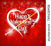 st. valentine's day red... | Shutterstock .eps vector #789638908