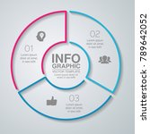 vector infographic template for ... | Shutterstock .eps vector #789642052