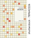 tile pattern book cover  annual ... | Shutterstock .eps vector #789642226