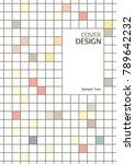 tile pattern book cover  annual ... | Shutterstock .eps vector #789642232