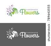 vector logo template. flowers... | Shutterstock .eps vector #789643555