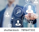human resources management and... | Shutterstock . vector #789647332