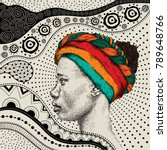 girl in turban with african... | Shutterstock .eps vector #789648766